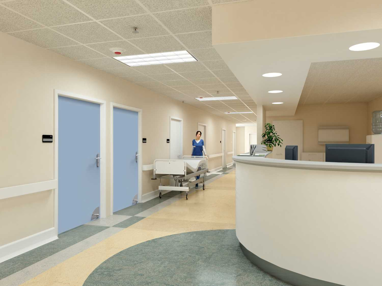 Hôpital ouvre porte sans contact